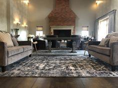 Handmade Vintage Rug from THE HANDMADE RUG COMPANY - Living room rug - Living room inspiration - Grey Rug Hall Runner, Rug Company, Berber Rug, Traditional Rugs, Large Rugs, Contemporary Rugs, Grey Rugs, Living Room Inspiration, Beautiful Interiors