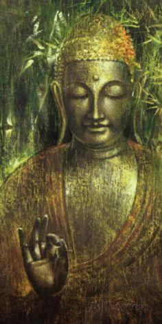 Buddha in Green l Lámina