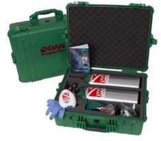 """DAN: """"Extended Care O2 Kit"""" For those looking for a larger supply of oxygen, this dual unit offers storage for two individual Jumbo D cylinders in a Pelican 1600 case. This unit provides up to two hours of emergency oxygen. $899.95"""