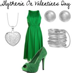 Slytherin On Valentines Day, created by nearlysamantha on Polyvore