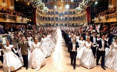 The yearly Operaball in Vienna is the setting for hundreds of debutantes to make their debut in society.
