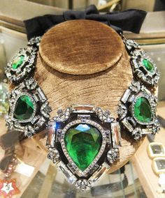 Lanvin emerald green necklace -- perfect for the holidays!