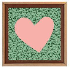 Tonki motif coeur rose Cam LE MAC'
