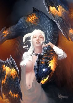 Online digital art gallery of best pictures and photos from portfolios of digital artists. Manually processing and aggregation artworks into the thematic digital art galleries. Fantasy Dragon, Fantasy Art, Dark Fantasy, Digital Art Gallery, Dragon Images, Game Of Thrones Art, My Sun And Stars, Mother Of Dragons, Fantasy Women
