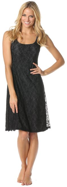 Black lace maternity and nursing cocktail LBD!  This dress has pull down nursing access and a built-in privacy panel.