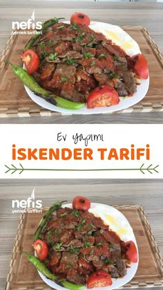 Alexander Recipe - Delicious Recipes - # 4995801 - How to make İskender Recipe? Illustrated explanation of İskender Recipe in the book of peop - Yummy Recipes, Lunch Recipes, Meat Recipes, Dinner Recipes, Healthy Recipes, Turkish Kitchen, Good Food, Yummy Food, Turkish Recipes