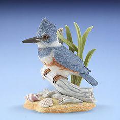 LENOX Figurines: Birds - Female Belted Kingfisher Garden Bird Figurine