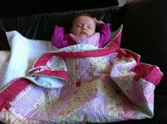 Baby Decke Amélie rosa/grün gequiltet von NNCustomDesigns auf Etsy