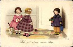 Künstler Ak Baumgarten, Fritz, Kinder mit Geschenk, Kleeblätter, K... - 1307204 in Sammeln & Seltenes, Ansichtskarten, Motive | eBay