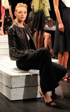Models pose during the Holmes & Yang presentation during Spring 2013 Mercedes-Benz Fashion Week