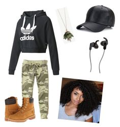 """Chill day with the guys ✌🏽🤘🏽"" by dejarire45 on Polyvore featuring adidas, JBL, Hollister Co., Ann Taylor and Timberland"