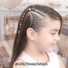Easy Toddler Hairstyles, Flower Girl Hairstyles, Princess Hairstyles, Fringe Hairstyles, Little Girl Hairstyles, Pretty Hairstyles, Braided Hairstyles, Hair Tutorials For Medium Hair, Medium Hair Styles