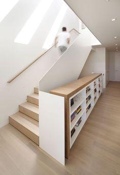 Escalier et rangement astucieux et design