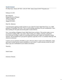 Best Cover Letter Examples Images  Cover Letter For Resume   Cover Letters For Teachers