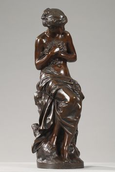 VÉNUS AU BAIN BY MATHURIN MOREAU (1822-1912) 1860