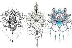 Lotus Flower Tattoo Designs – 30 Templates – Portal Tips Tattoo Design For Hand, Lotus Flower Tattoo Design, Mandala Tattoo Design, Henna Tattoo Designs, Lotus Flower Tattoos, Tattoo Ideas, Lotus Mandala Design, Lotus Tattoo Back, Paisley Tattoos