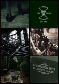 Harry Potter, Houses, Aesthetic ~ Slytherin Or perhaps in Slytherin You'll make your real friends, Those cunning folk use any means To achieve their ends.