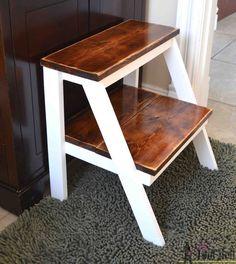 Дайте себе толчок!  Построить эту простую DIY шаг табурет для тех, труднодоступных местах.  Идеальный ребенок шаг стул мыть руки.