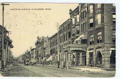 Muskegon Michigan Western Avenue photo postcard 1909