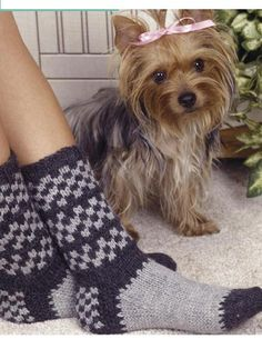 Free Sock Knitting Patterns - Checkered Socks