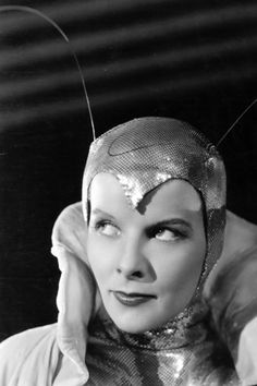 "Katharine Hepburn dressed as the ""Silver Moth"" in CHRISTOPHER STRONG. Designed by Walter Plunkett, 1933"
