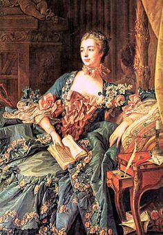 The Marquise de Pompadour detail ~ Francois-Boucher