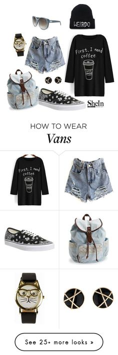 """""""First I need a coffee"""" by zana-k on Polyvore featuring JFR, Chloé, Aéropostale, Vans, women's clothing, women's fashion, women, female, woman and misses"""