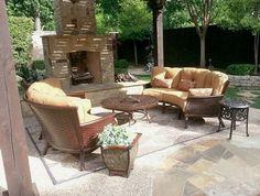 Lane Ventureu0027s Carolyn Sofa Enjoy Your Outdoor Room   Yard Art Patio U0026  Fireplace | Enjoy Your Outdoor Room | Pinterest | Patio Fireplace, ...