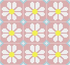 Discover thousands of images about Floral mosaic perler bead pattern Tapestry Crochet Patterns, Weaving Patterns, Bag Crochet, Crochet Chart, Knitting Charts, Knitting Patterns, Cross Stitch Designs, Cross Stitch Patterns, Tapestry Bag