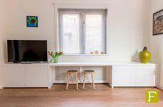 tv meubel dressoir kast maatwerk hillegom meubelmaker design fijn timmerwerk wit