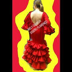Trajes de flamenca Mely Gamboa Diseño Flamenco.  #hadamely #batadecola  655153383