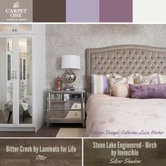 Purples and metallics from Catherine-Lucie Horber.   Carpet One floors.