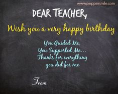 Birthday Wishes For Teacher Quotes ~ Happy birthday wishes to teacher u2013 birthday for teacher happy