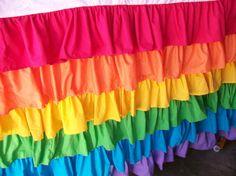 Rainbow/Candy Land/My Little Pony Ruffle by sewwhatgrandma on Etsy, $179.00