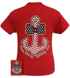 8782cb007 America Bowtie Anchor Red Girly Girl Originals, Anchor Shirts, Couture Usa,  Patriotic Shirts