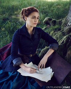 Beautiful still of Sophie Skelton as Brianna Randall Fraser MacKenzie 💜 - Outlander_Starz - March 2020 The White Princess, Richard Rankin, Outlander Tv Series, Outlander Quotes, Outlander Casting, The Fiery Cross, Fandoms, Portraits, Jamie Fraser