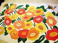Vintage Marimekko beach towel