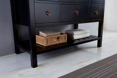 Salerno 1200 Ancient Black with Carerra White Marble Top