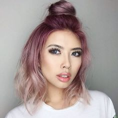 Happy Monday Bunday ! @hello.chantelle looks fierce and funky with her top knot and mauvy pink hair ! Don't forget to tag us in your hairfies  and use the hashtag #NuMeStyle for a chance to be featured! #hairoftheday #topknot