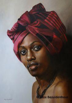 Artist: Elize Bezuidenhout Oil on canvas Portrait Art, Portraits, South African Artists, Cape Town, Oil On Canvas, Artworks, My Arts, Paint, Grey