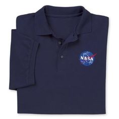 Amazon.com: NASA Logo Polo Shirt: Clothing
