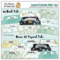 Bible Tabs for Bible Journalling / Inspired by DigiScrapDelights #bible #bibletabs #biblestudy #organization #tabs #inspire
