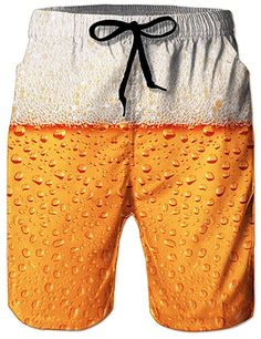 Craft Beer Gifts for Him Funny Swim Trunks, Hawaii Surf, Beer Humor, Line S, Beachwear, Swimwear, Swim Shorts, Sport, Sweatpants
