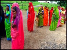 Colour, colour, colour in a ChildFund-supported community in #India!