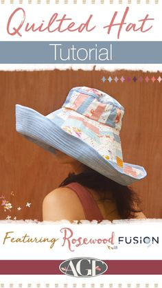 Quilted Hat Tutorial Sewing Aprons, Sewing Clothes, Diy Sewing Projects, Sewing Tutorials, Quilting Projects, Sewing Ideas, Hat Patterns To Sew, Sewing Patterns, Hat Tutorial