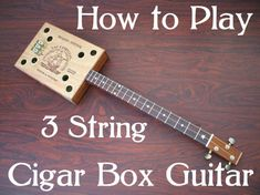 3 - string guitar lessons for cigar box guitar - Homemade DVD video to Learn Delta Blues & slide guitar on both Resonator or fretted American Folk Music, Slide Guitar, Delta Blues, Cigar Box Guitar, Guitar Lessons, Guitar Tips, Types Of Music, Music Theory, Play To Learn