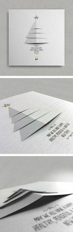 decoupage carte de voeux a faire soi meme de style minimaliste