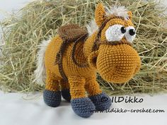 Amigurumi Crochet Pattern - Herbert the Horse Paard Ook als set met ruiter