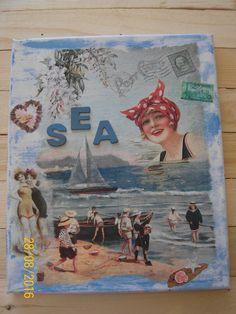 "Maritimes Leinwandbild ""SEA"""