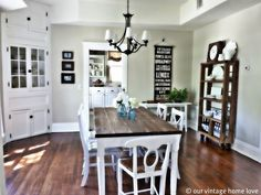 Our vintage home- DIY : Dining Room Table (made with 2x8 boards for #31 dollars !! TOTAL)